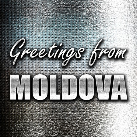 moldovan: Grunge metal Greetings from moldova card with some soft highlights