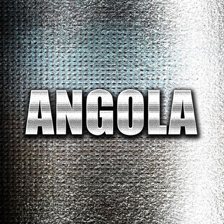 grunge metal: Grunge metal Greetings from angola card with some soft highlights