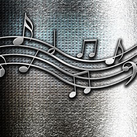 grunge metal: Grunge metal Music note background with some soft smooth lines