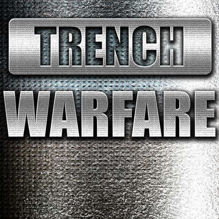trench: Grunge metal trench warfare sign with some soft lines