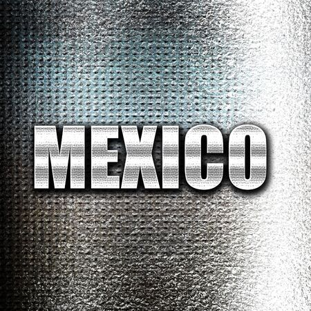 grunge metal: Grunge metal Greetings from mexico card with some soft highlights