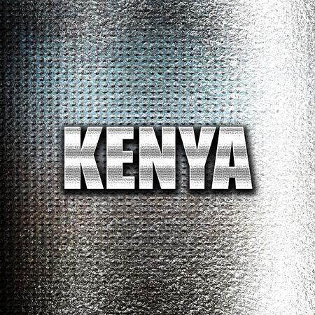 grunge metal: Grunge metal Greetings from kenya card with some soft highlights