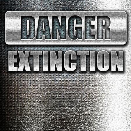 armageddon: Grunge metal apocalypse danger background on a grunge background