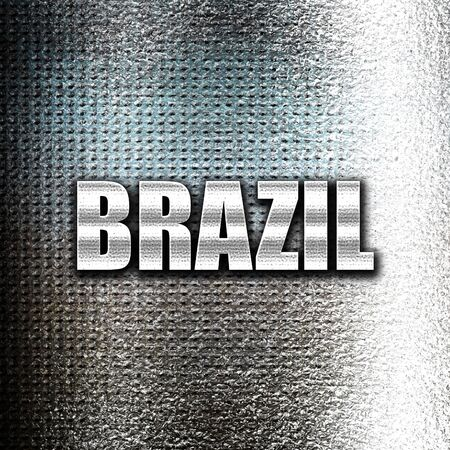 grunge metal: Grunge metal Greetings from brazil card with some soft highlights