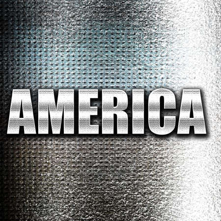grunge metal: Grunge metal Greetings from america card with some soft highlights