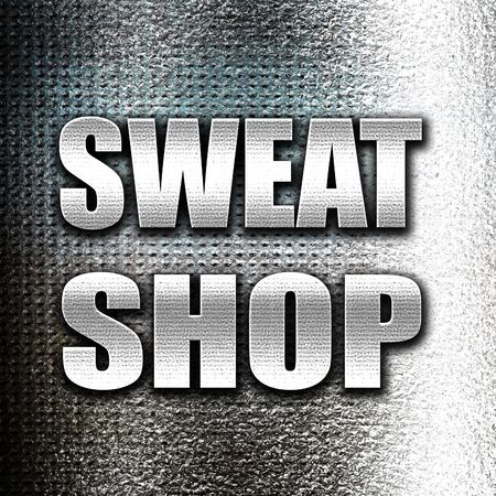 sweat: Grunge metal Sweat shop background with some smooth lines Stock Photo