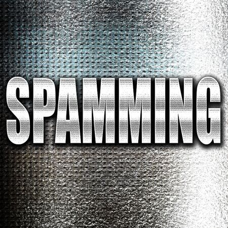 spamming: Grunge metal Spamming background with smooth lines and highlights Stock Photo