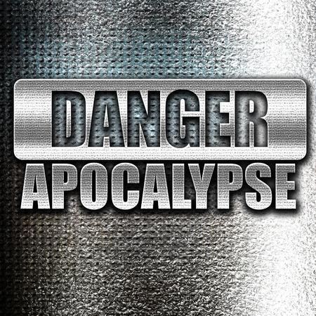 caution chemistry: Grunge metal apocalypse danger background on a grunge background