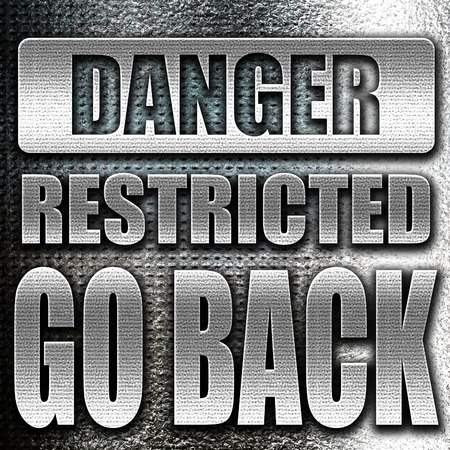go back: Grunge metal Go back sign with some smooth lines Stock Photo