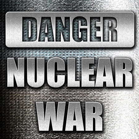 meltdown: Grunge metal Nuclear danger background on a grunge background
