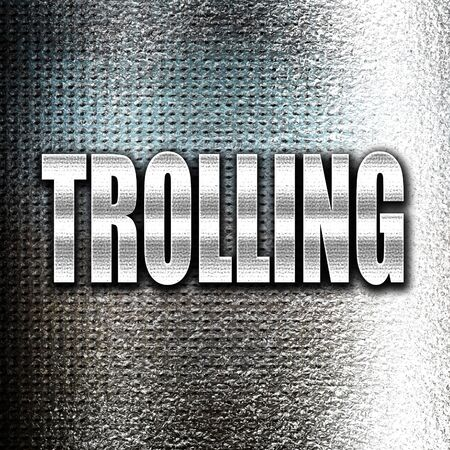slang: Grunge metal Trolling internet background with some soft smooth lines