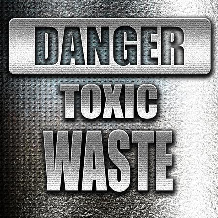 residuos toxicos: de metal grunge signo de desechos t�xicos, con unas l�neas suaves Foto de archivo