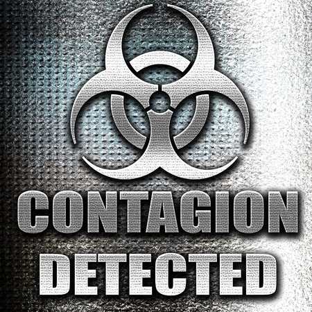contagion: Grunge metal contagion concept background with some soft smooth lines Stock Photo
