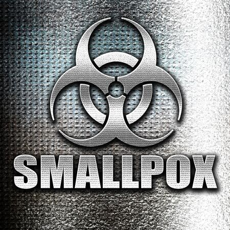 smallpox: Grunge metal smallpox concept background with some soft smooth lines