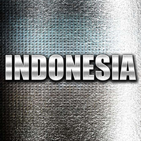 grunge metal: Grunge metal Greetings from indonesia card with some soft highlights