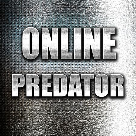 Grunge metal online predator background with some smooth lines