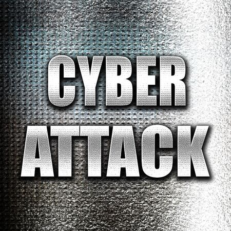 cyberwarfare: Grunge metal Cyber warfare background with some smooth lines Stock Photo