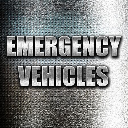 manners: Grunge metal Emergency services sign with yellow and black colors