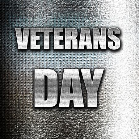 national hero: Grunge metal veterans day background with some soft smooth lines Stock Photo