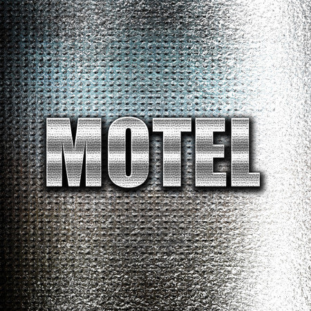 holidays vacancy: Grunge metal Vacancy sign for motel with some soft glowing highlights