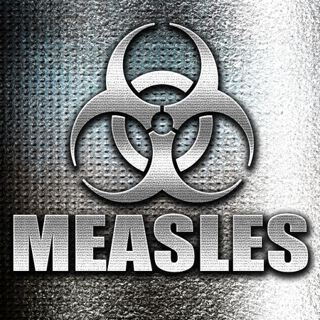 measles: Grunge metal measles concept background with some soft smooth lines