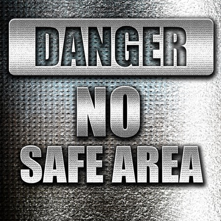 hazardous area sign: Grunge metal apocalypse danger background on a grunge background