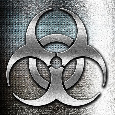 biologic: Grunge metal Bio hazard sign on a grunge background
