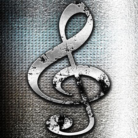 metal music: Grunge metal Music note background with some soft smooth lines