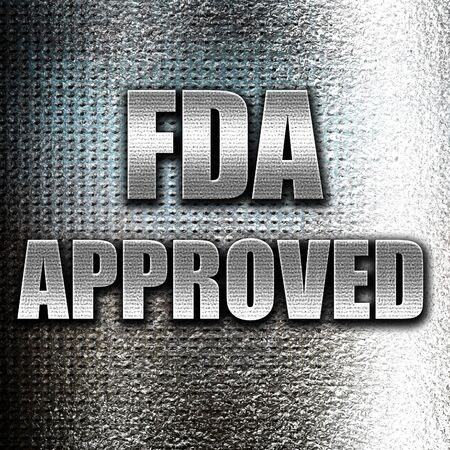 ratified: Grunge metal FDA approved background with some smooth lines Stock Photo