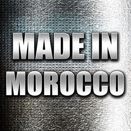 made in morocco: Grunge metal Made in morocco with some soft smooth lines