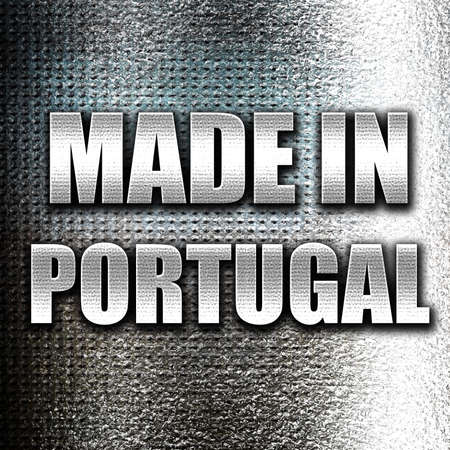 made in portugal: Grunge metal Made in portugal with some soft smooth lines