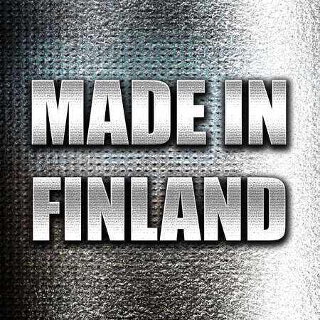 made in finland: Grunge metal Made in finland with some soft smooth lines