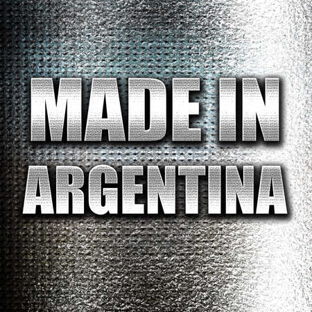 argentine: Grunge metal Made in argentine with some soft smooth lines Stock Photo