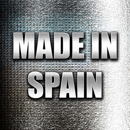 made in spain: Grunge metal Made in spain with some soft smooth lines