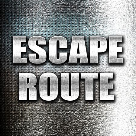 grunge metal: Grunge metal escape route Stock Photo