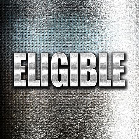 rebates: Grunge metal eligible Stock Photo
