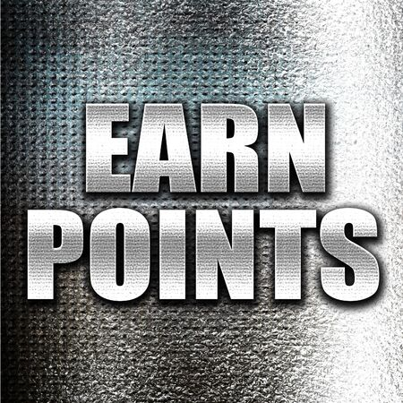 persuasive: Grunge metal earn points Stock Photo