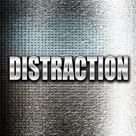 interrupt: Grunge metal distraction Stock Photo