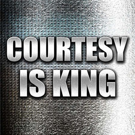 a courtesy: Grunge metal courtesy is king Stock Photo