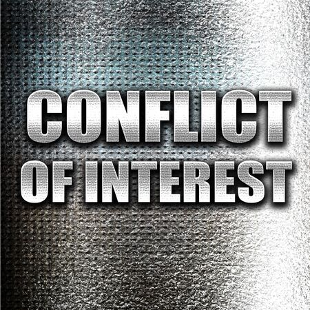 conflicting: Grunge metal conflict of interest Stock Photo