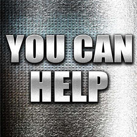 tu puedes: Grunge metal puede ayudar Foto de archivo