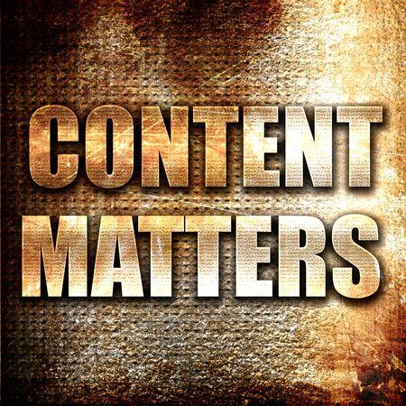 matters: Grunge metal content matters
