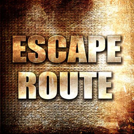 escape: Grunge metal escape route Stock Photo