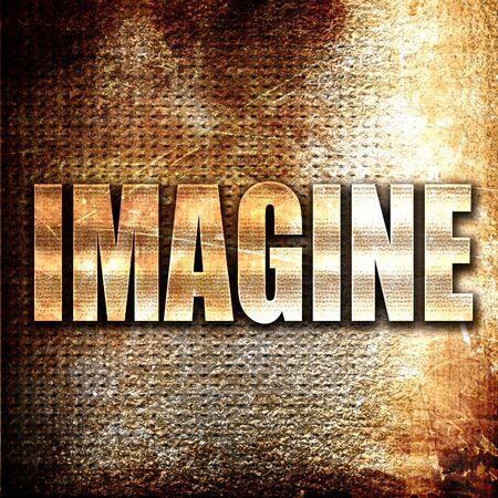 to imagine: Grunge metal imagine Stock Photo