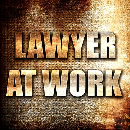 solicitor: Grunge metal lawyer at work Stock Photo