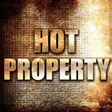 property: Grunge metal hot property Stock Photo