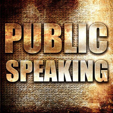 extrovert: Grunge metal public speaking