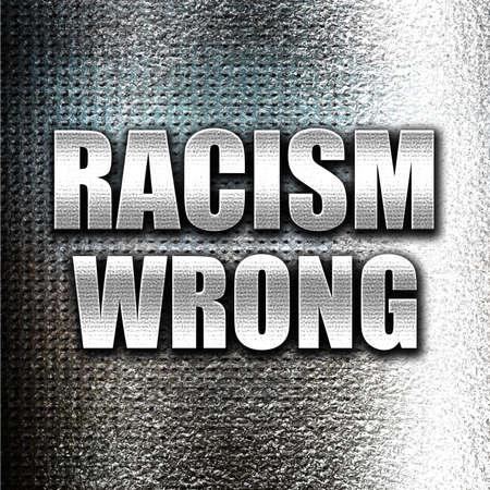 racismo: Grunge de metal racismo mal