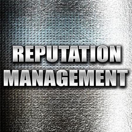 reputation: Grunge metal reputation management Stock Photo