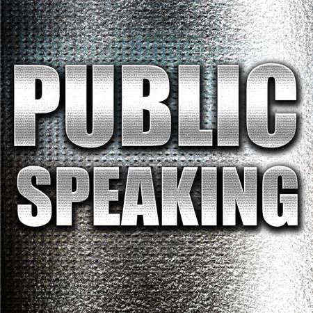 hablar en publico: Grunge de metal hablar en p�blico